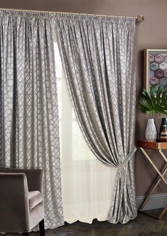 Комплект штор Алмаз с тюлем коричневый