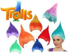 Тролли парик цветной