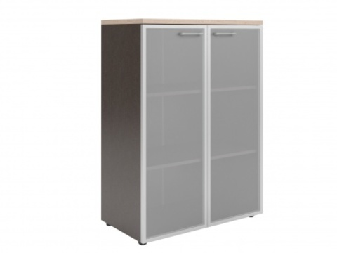 XMC 85.7 Шкаф со стеклянными дверьми в алюминевой рамке (850х410х1165)