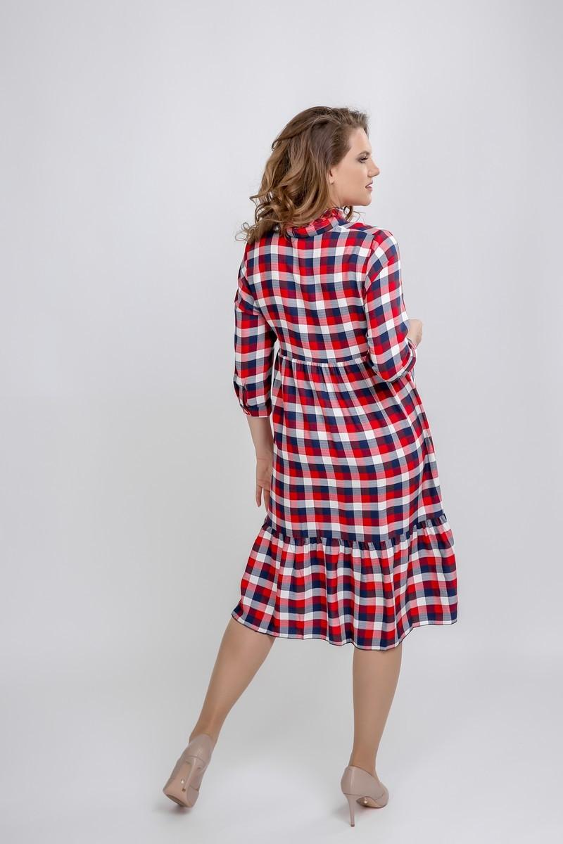 Фото платье для беременных GEMKO от магазина СкороМама, синий, клетка, размеры.