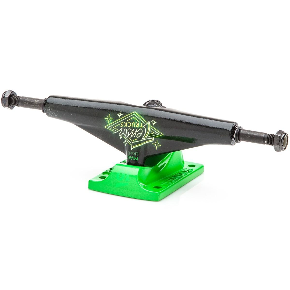 Подвески для скейтборда TENSOR Aluminium Lo Neon Logo (Black/Toxic Green)
