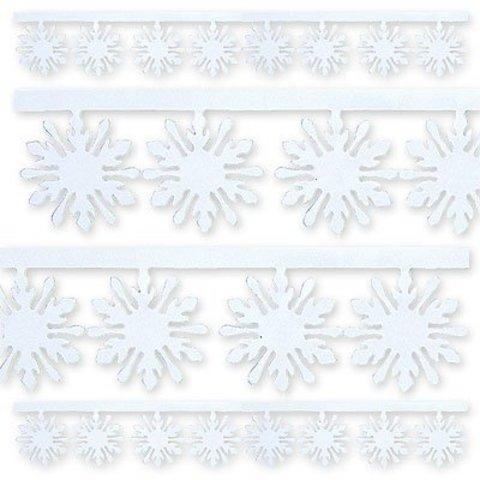 Гирлянда Снежинка фольг белая 3мх10см/G
