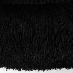 Купить бахрому оптом для украшения в Москве черную Black