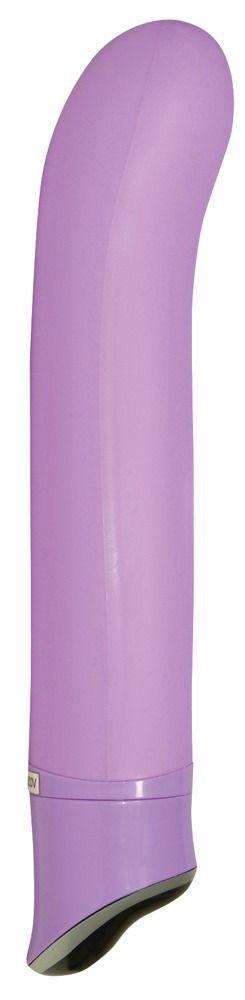 Фиолетовый вибратор Smile Easy - 22 см.