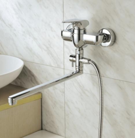 Смеситель для ванны с длинным изливом GRO WELLE PFF 722