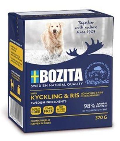 4253 BOZITA Naturals ChikenRice кон.д/собак Кусочки в желе Курица с рисом 370гр*16