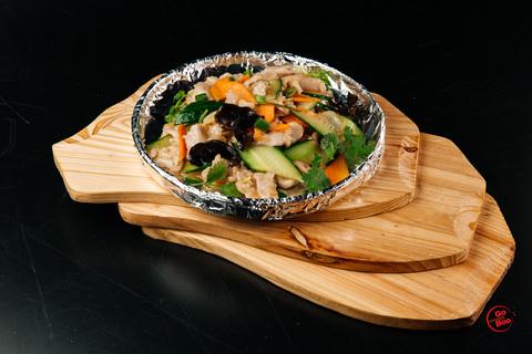 Свинина с овощами и грибами