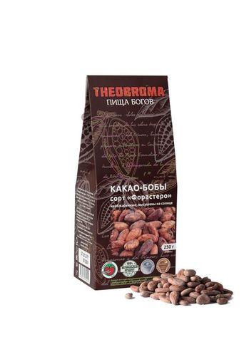 Какао-бобы фермент. необжар. Гана 250г Theobroma