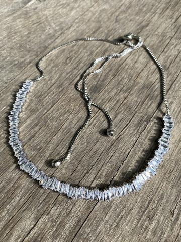 Колье Серенада, серебряный цвет