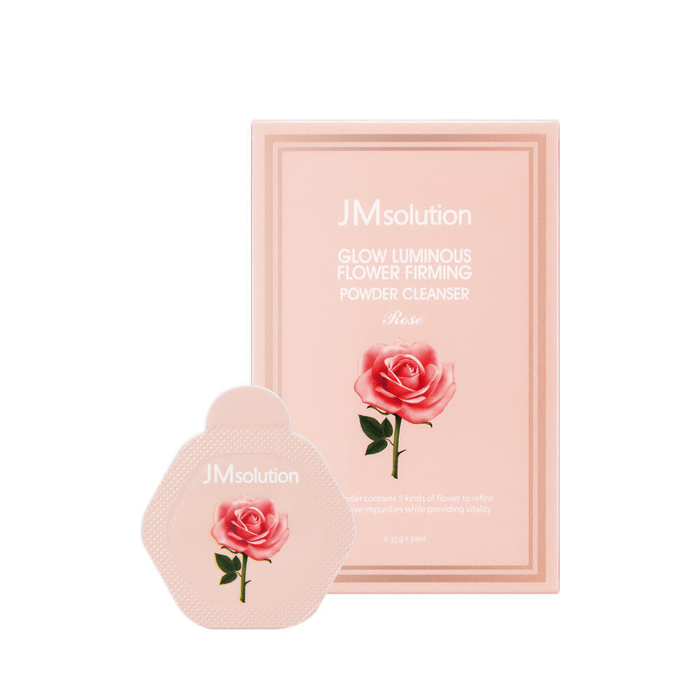 Энзимная пудра для очищения кожи с цветочными экстрактами GLOW LUMINOUS FLOWER FIRMING POWDER CLEANSER ROSE, 30 шт