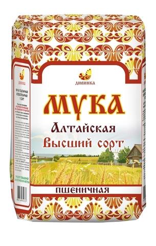 Мука пшеничная, Дивинка, Алтайская, сорт высший, 2 кг