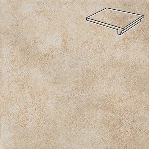 Interbau - Nature Art, Bambus beige/Бежевый 360x320x9,5, цвет 112 - Клинкерная ступень - флорентинер