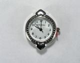 Основа для часов, металлическая, 30x24 мм, посеребренная, 1 шт.