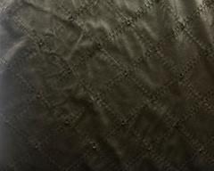 Искусственная кожа черный ромб