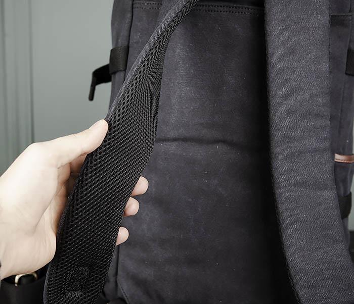 BAG368-1 Городская тканевая сумка рюкзак с ремнем на плечо фото 07