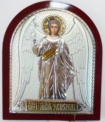 Серебряная с золочением икона Ангела Хранителя 8,5х7см