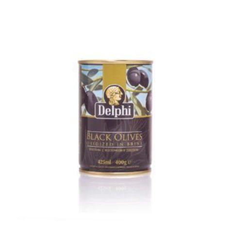 Маслины без косточки в рассоле DELPHI 400 гр жесть