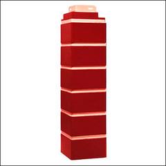 Наружный угол для фасадных панелей FineBer Кирпич облицовочный Britt Красный