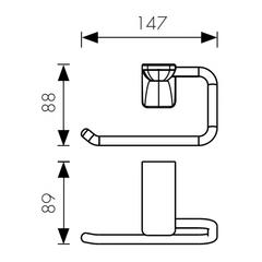 Держатель для туалетной бумаги KAISER Glory KH-1511 схема