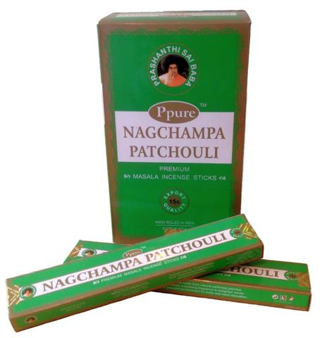 Индийские палочки Ppure NagChampa Patchouli