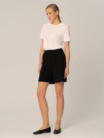 Женские шорты черного цвета из вискозы - фото 5