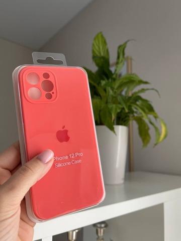 iPhone 12 (6.1) Silicone Case Full Camera /pink citrus/