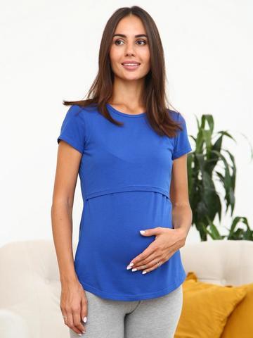 Мамаландия. Футболка для беременных и кормящих, василек