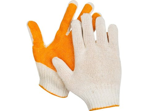 ЗУБР ПРОТЕКТОР, размер S-M, перчатки с увеличенной площадью ПВХ-гель покрытия
