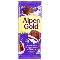 """Шоколад """"Alpen Gold"""" черника с йогуртом 90г"""