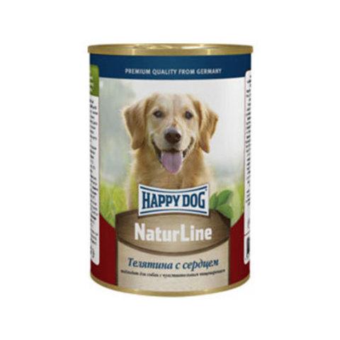 HAPPY DOG Консервы для собак с телятиной и сердцем 8000 г. (400г.*20)