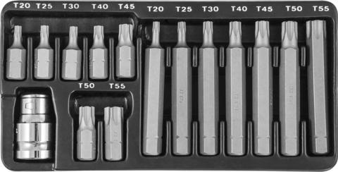S29H4215S Набор вставок-бит 10 мм DR TORX® с переходниками, 15 предметов