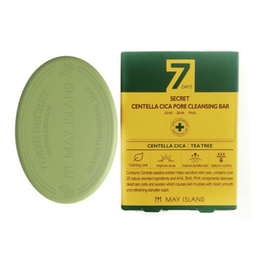Очищение кожи Мыло для проблемной кожи, MAY ISLAND, 7 Days Secret Centella Cica Pore Cleansing Bar, 100г may-island-7-days-secret-centella-cic-pore-cleansing-bar.jpg
