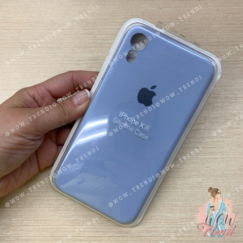 Чехол iPhone XR Silicone Slim Case /lilac cream/