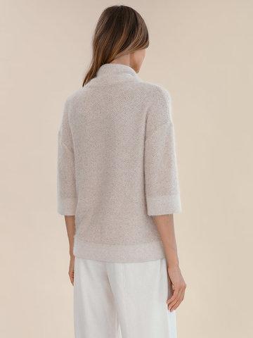 Женский свитер бежевого цвета из ангоры - фото 5