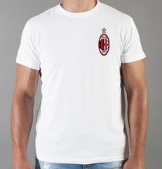 Футболка с принтом FC ACM Milan (ФК Милан) белая 006