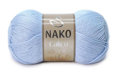Пряжа Nako Calico голубой 5028