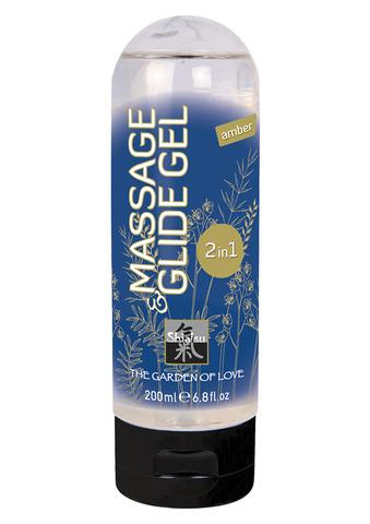 Массажный гель Shiatsu - Massage & Glide Gel 2 in 1- Amber, 200 мл