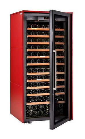 Винный шкаф EuroCave S Collection M красный сатин, максимальная комплектация
