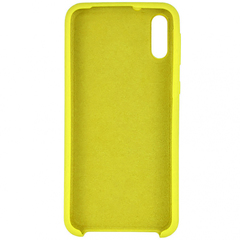 Чехол для Samsung A10 Silicon Cover желтый