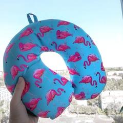 Подушка-подголовник Gekoko «Фламинго», голубая 2