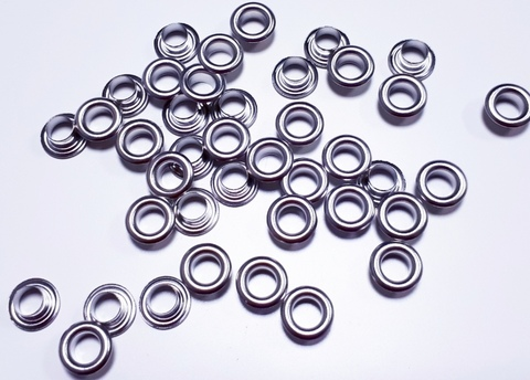 Люверсы, 5 мм, серебро, шт