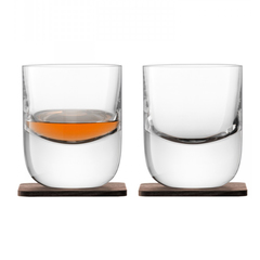 Набор из 2 стаканов Renfrew Whisky с деревянными подставками, 270 мл, фото 1