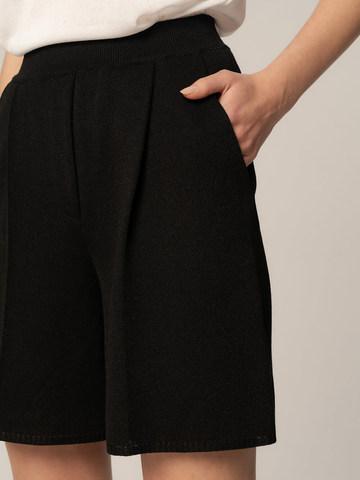 Женские шорты черного цвета из вискозы - фото 3