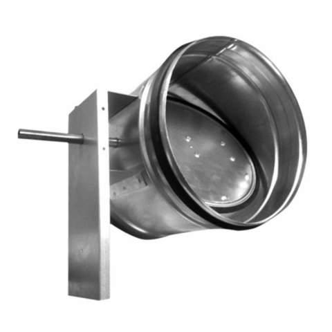 Дроссель-клапан под электропривод ZSK 355 мм
