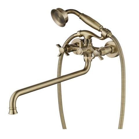 Смеситель KAISER Cross 41055-1 Bronze для ванны