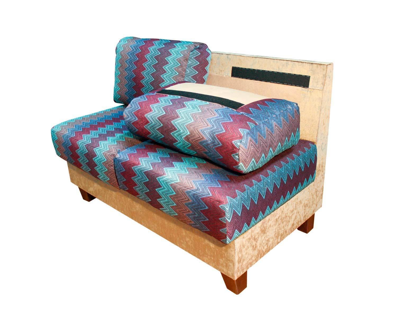 2-местный прямой диван Токио, фиксация подушек контактной лентой