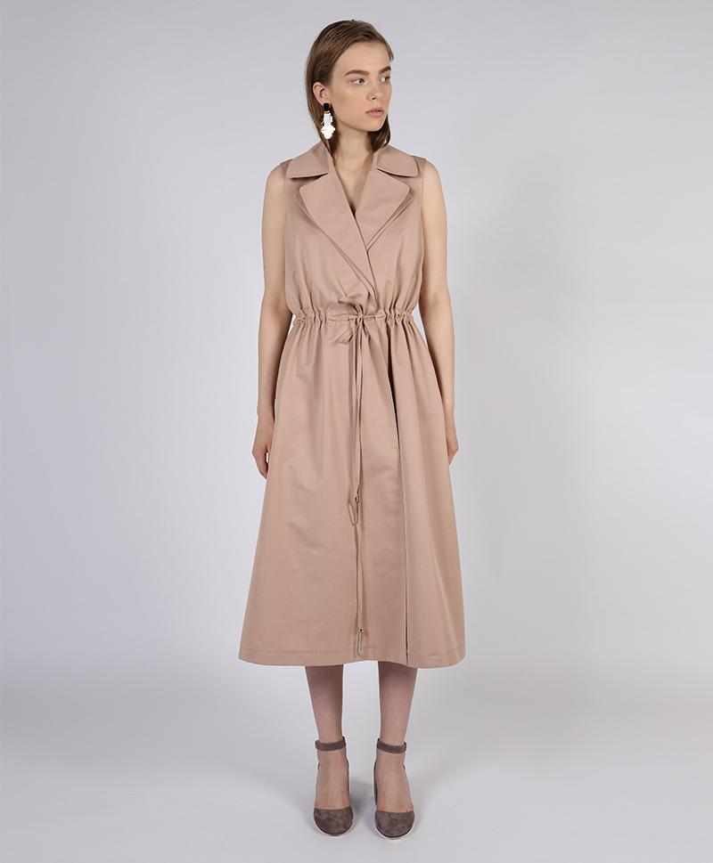 Платье-жилет розового цвета