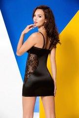 Моделирующее нижнее платье с кружевом на боках Maxime черное