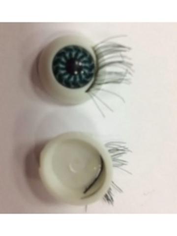 Глаз с ресницами клеевой 15 мм (2 шт)