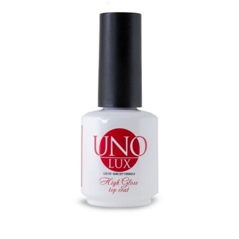Верхнее покрытие для гель-лака UNO LUX High Gloss Top Coat, 15 мл